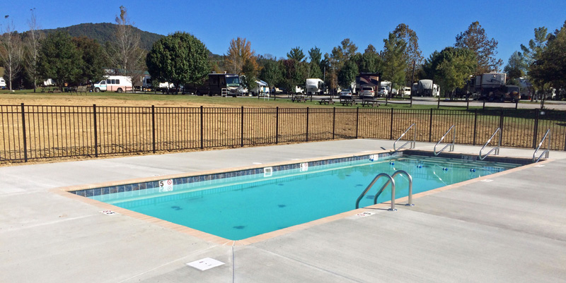 Commercial Campground Liner Pool