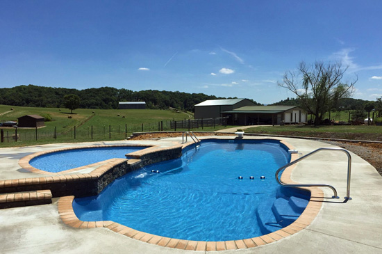 Greeneville Tennessee Fiberglass Pool