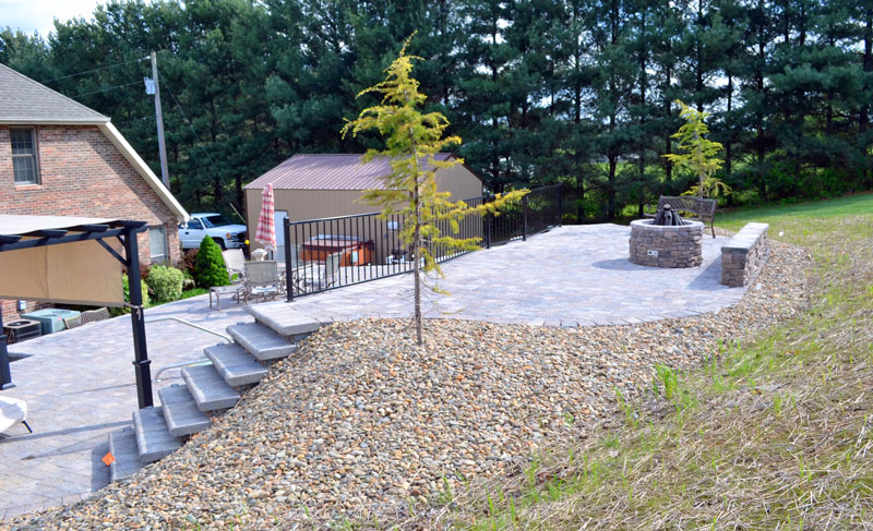Hill Terrace in Bristol TN with Outdoor Living and Firepit