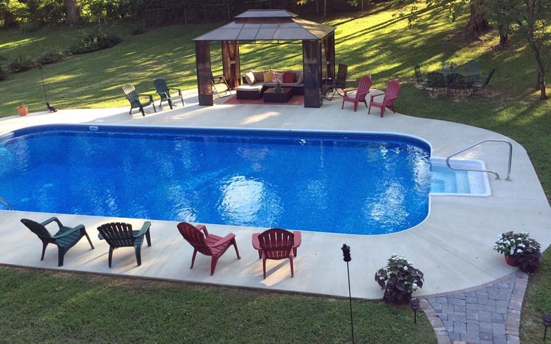 Backyard Pool Morristown TN Vinyl Liner System