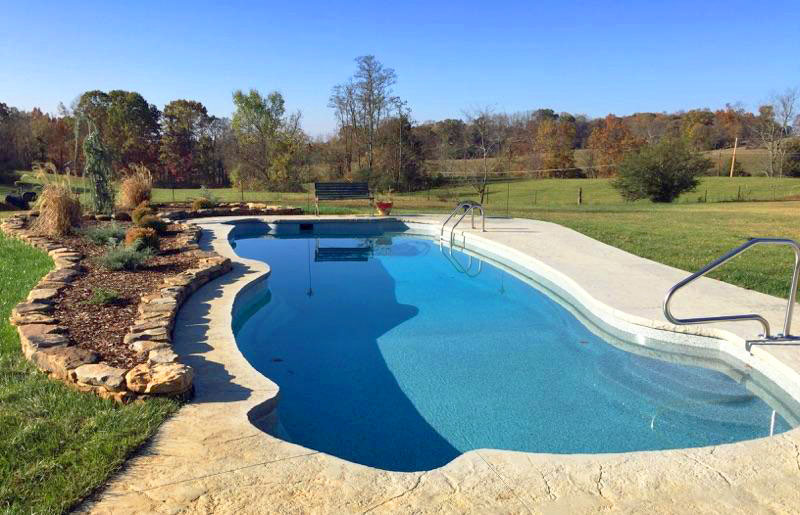 Fiberglass Pool by the Garden