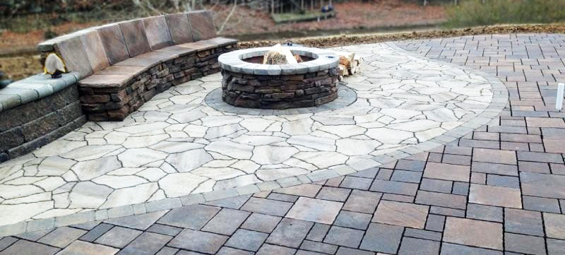 Gorgeous Firepit Seating Hardscape